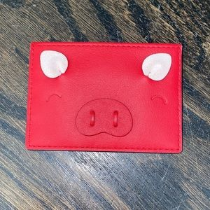 LIKE NEW ONLY USED ONCE Kate Spade Pig Cardholder